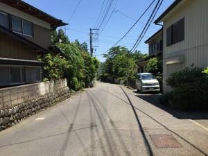 上の山城の旧街道
