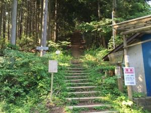 和田峠から陣馬山への登山口